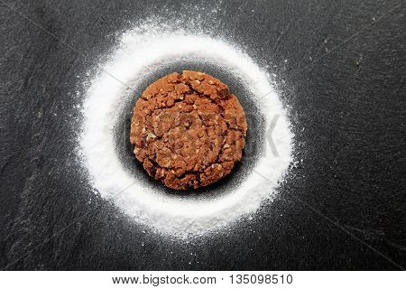 baking soda and delicious chocolate cookie