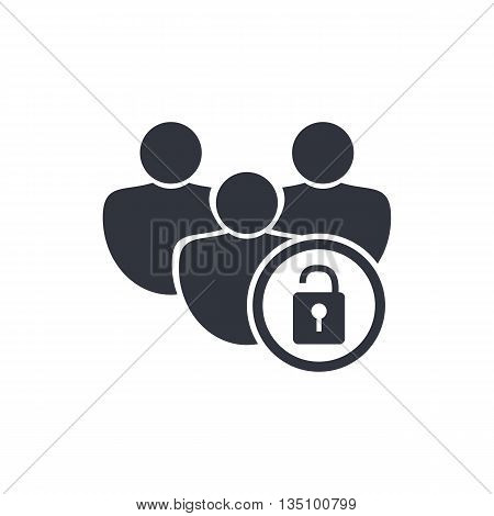 Lock Open Icon In Vector Format. Premium Quality Lock Open Symbol. Web Graphic Lock Open Sign On Whi