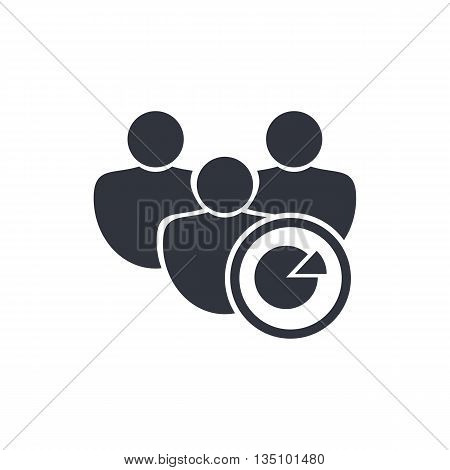 User Pie Icon In Vector Format. Premium Quality User Pie Symbol. Web Graphic User Pie Sign On White