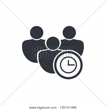 User Time Icon In Vector Format. Premium Quality User Time Symbol. Web Graphic User Time Sign On Whi