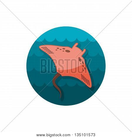 Ramp fish vector icon. Beach. Summer. Summertime. Holiday. Vacation, eps 10