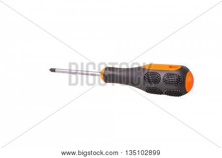 old screwdriver on white
