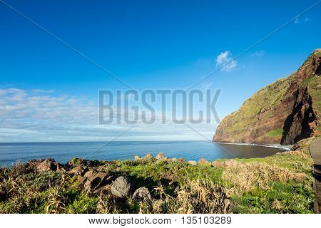 Madeira Coast - Cliffs On The Western Part Of Portuguese Island.