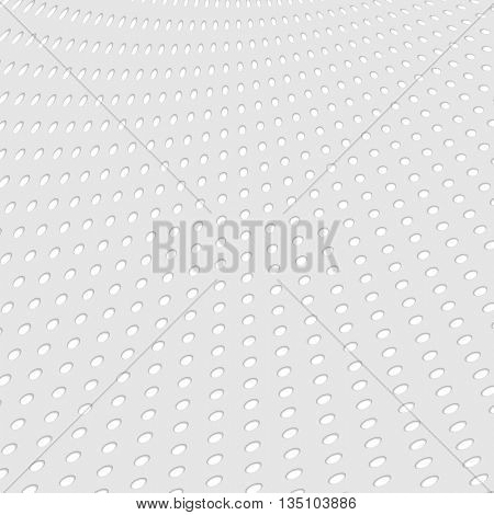 Grey paper dotted abstract tech background. Vector geometric technical design template