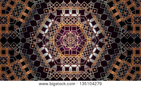 Arabesque ornament Colorful ethnic patterned background. Arabesque ornament Vintage decorative elements.