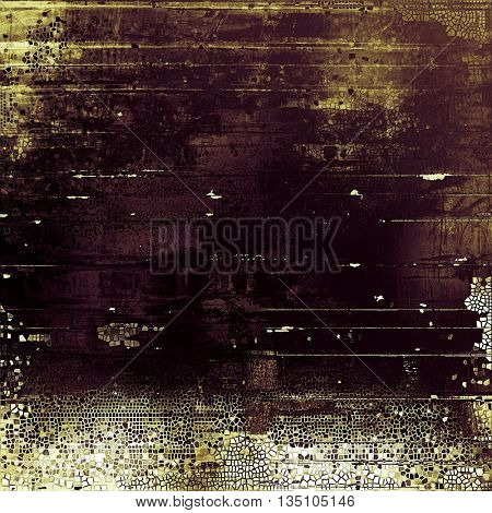 Glamour vintage frame, decorative grunge background. Aged texture with different color patterns: yellow (beige); brown; purple (violet); gray; black