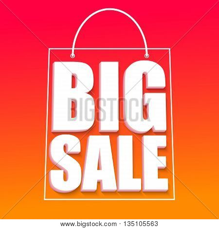 Big sale advertisement, fantastic offers. Colorful expressive, attention-drawing banner with hot, red background. Vector editable symbol, easy to change size
