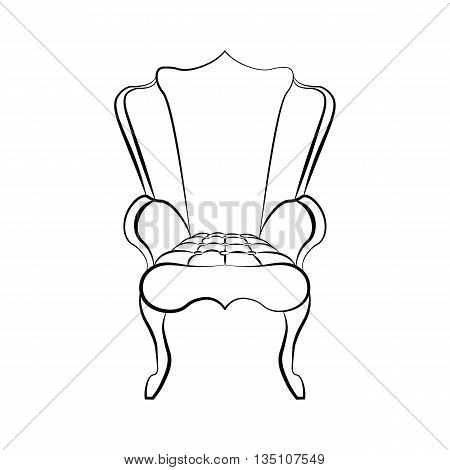 Armchair in Art Deco style. Vector sketch