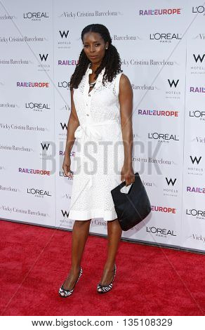 Tasha Smith at the Los Angeles premiere of 'Vicky Cristina Barcelona' held at the Mann Village Theater in Westwood, USA on August 8, 2008.