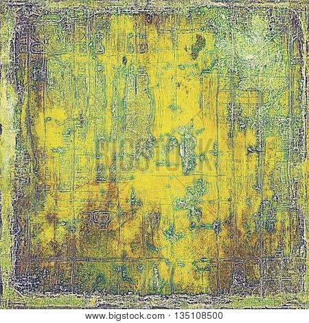 Grunge retro composition, textured vintage background. With different color patterns: yellow (beige); brown; green; gray; purple (violet)