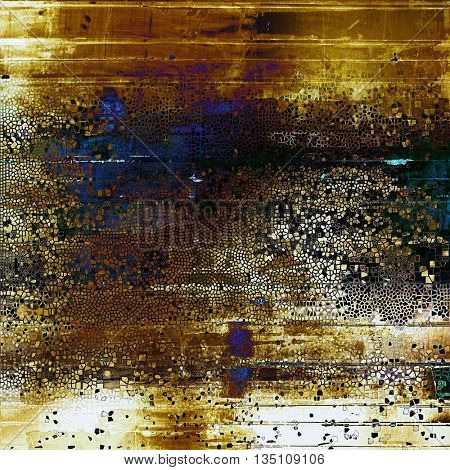 Retro abstract background, vintage grunge texture with different color patterns: yellow (beige); brown; blue; purple (violet); black; white