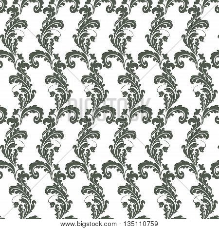 Classic style floral ornament pattern. Vector illustration