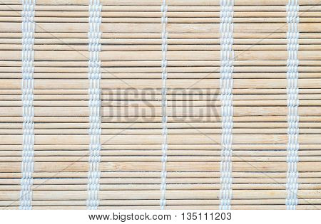Closeup surface of wooden mat textured background