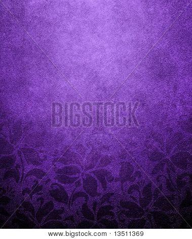 violet floral wallpaper