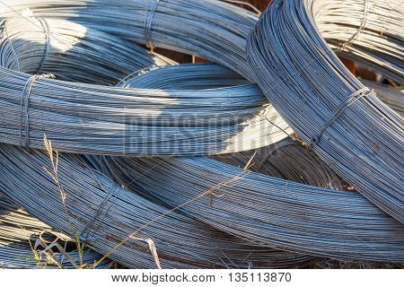 Rolls of stainless steel wire for use of fencing and industrial