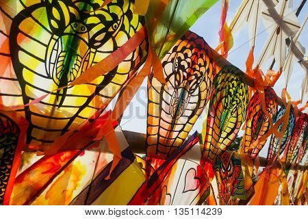 close up color full kite summer thailand