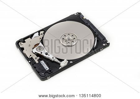 Hard disk 2.5 Inch isolated on white background