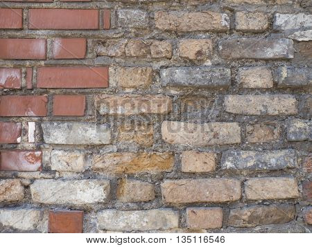 Old vintage red brick wall textured background