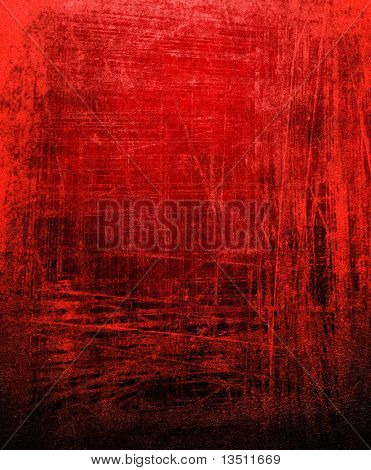 grunge red paint background