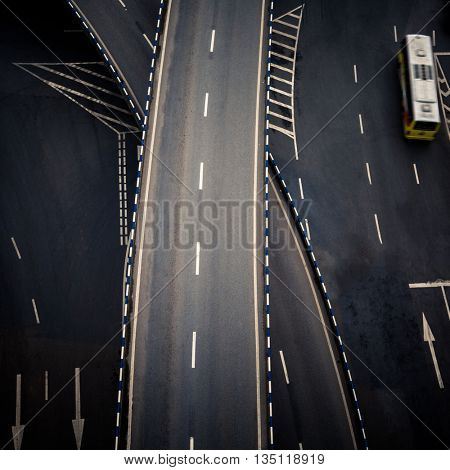 aerial view of chongqing overpass,china.