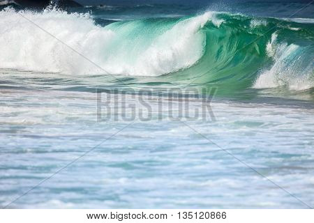 Big Stormy Ocean Waves - Colorful Sea Water Background