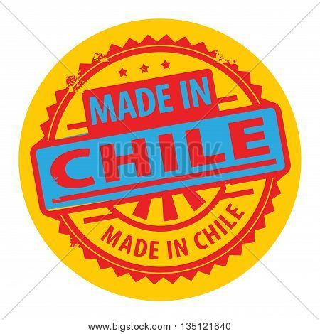 Abstract grunge rubber stamp with the text Made in Chile written inside the stamp, vector illustration