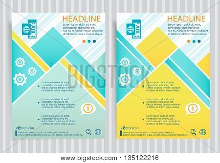 Airplane Ticket Sign On Vector Brochure Flyer Design Layout Template