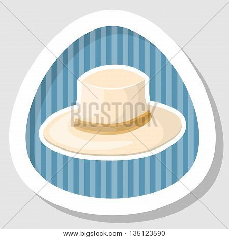 White Hat Cartoon Icon.