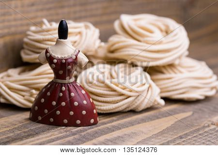 Tagliatelle And Red Dress Figurine