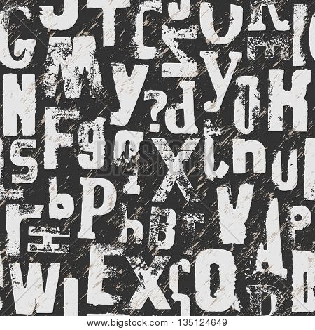 Seamless background - Vintage alphabet