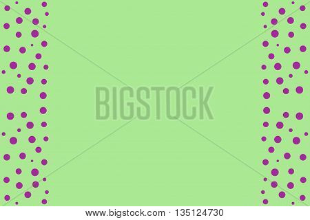 Purple points as side frame on a green background
