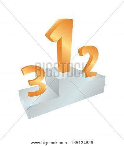3d Winners podium illustration. sports victory podium