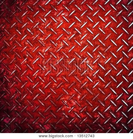 red diamond metal background
