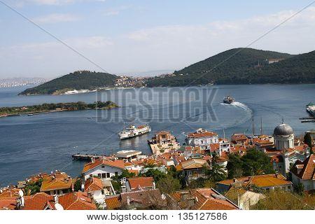 Prince Islands in Marmara sea, Istanbul, Turkey.