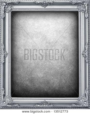 silver frame background