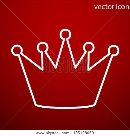 Crown icon vector and jpg. Flat style object. Art picture drawing. Eps 10. Web icons.