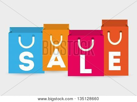 Shopping and ecommerce graphic design with icons, vector illustration.