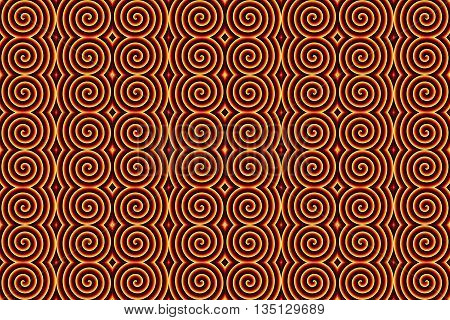 Illustration of repetitive inferno spirals as background