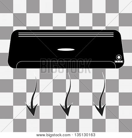 Air conditioner vector on a transparent background