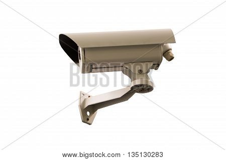 Day & Night Color wireless surveillance camera isolated on white