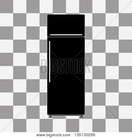 Black refrigerator vector on a transparent background