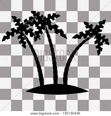 Tropical palm trees vector on a transparent background