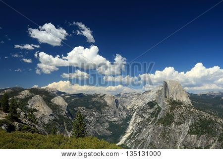 A magnificent view in Yosemite national park