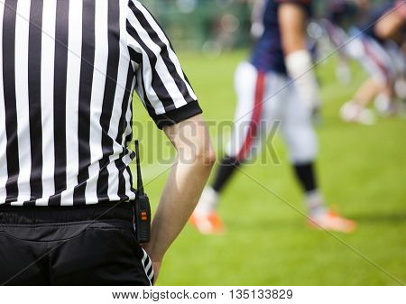 American football referee.