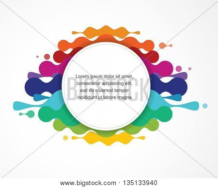 abstract colorful background with text space
