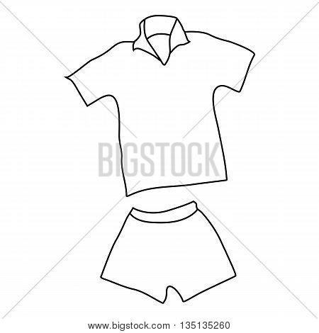 Tennis man uniform icon in outline style on a white background