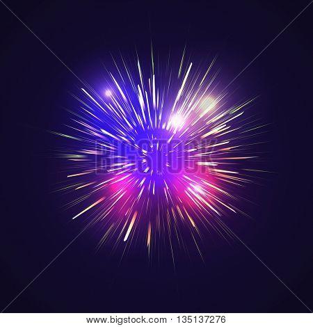 Festive Golden Firework Salute Burst on Black Background