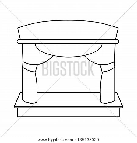 Theater stage icon in outline style on a white background
