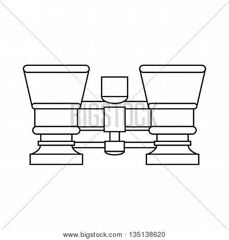 Retro theater binoculars icon in outline style on a white background