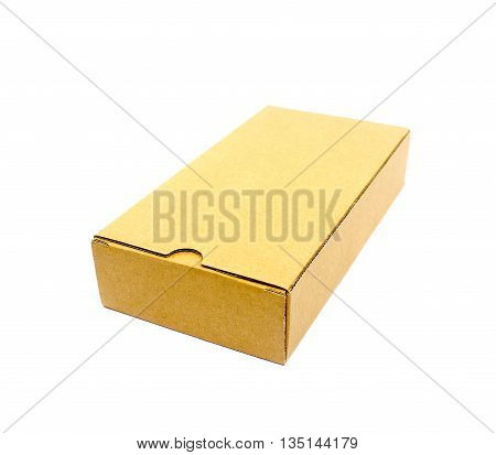 a cardboard box isolated on a white background